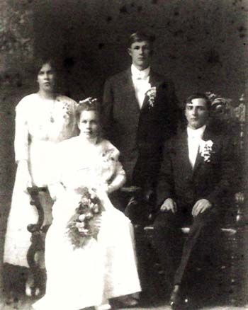 Henry George and Emma Wilhelmina Kruetzfeldt Gottsch Wedding Photo